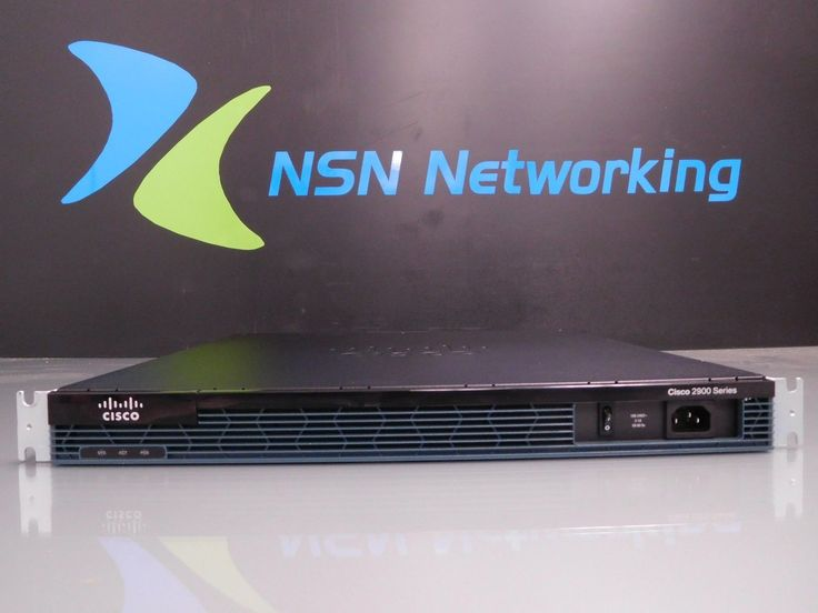 Cisco 2901 2-Port Gigabit Wired Router CISCO2901/K9 V06 w/ Rack Ears