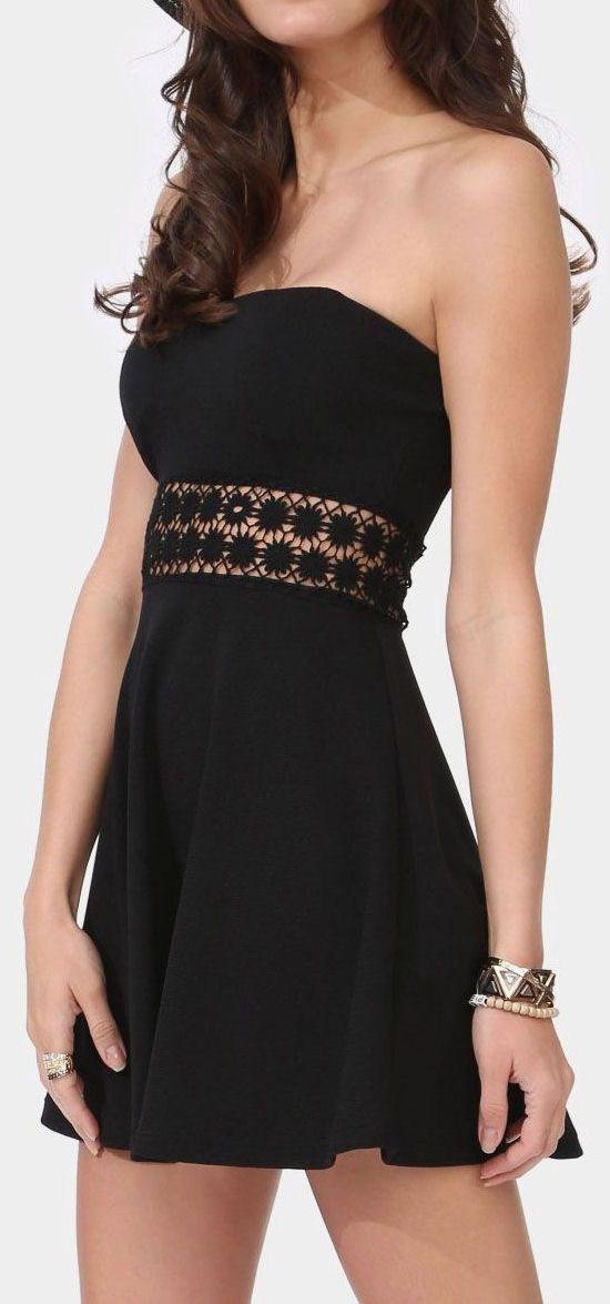 Lace Waist Mini Dress // #lbd