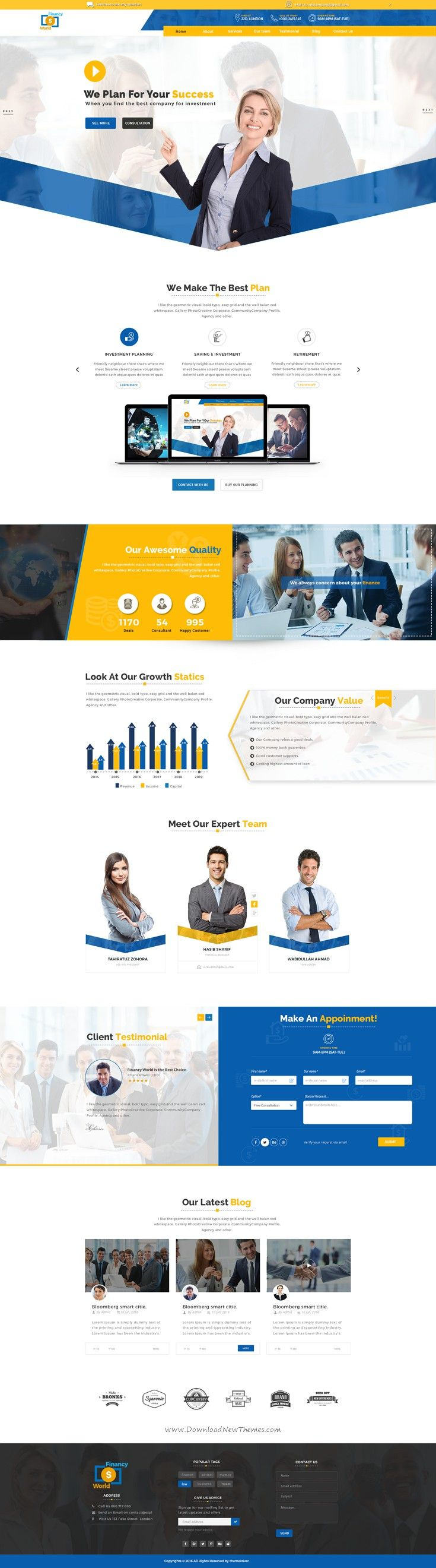 Financy World is the Perfect #Finance, Consulting & Business #PSD Template. #website