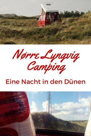 Auf dem wunderschönen Campingplatz in Nørre Lyngvig haben wir eine Nacht in den Dünen verbracht auf unserem Road Trip durch Dänemark im Bulli.