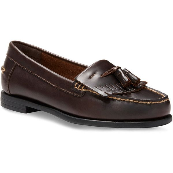 Eastland Laisee Women's Loafers (4.840 RUB) ❤ liked on Polyvore featuring shoes, loafers, dark brown, eastland shoes, anti slip shoes, long shoes, tassel shoes and slip-on shoes