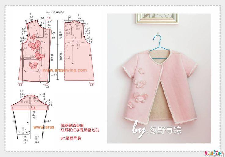 复合麂皮绒短袖款外套制作教程及参考图纸 - 成人服装教程 布流行手工网