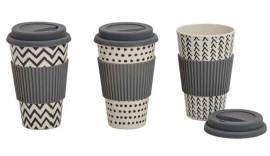 Kaffeebecher To Go Bambus mit Deckel (15144w) nur 4.80 EUR