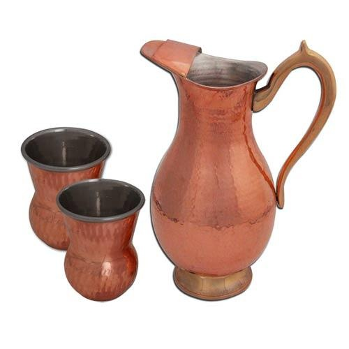 Buy direct from India online shopping; Copper Drinkware Mugal Jug Glass Set indian tableware nice  sc 1 st  Pinterest & 57 best Tableware images on Pinterest | Dinnerware Dinner ware and ...