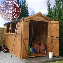 This Waltons Groundsman Apex Shed is perfect for storing all of your garden tools. It's made from high quality tongue and groove timber.