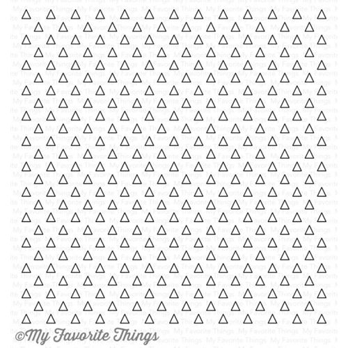 My Favorite Things TRANSPARENT TRIANGLE Background Cling Stamp MFT BG79 Preview Image