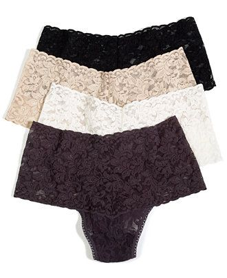 Hanky Panky Retro Thong 9K1926 - Panties - Women - Macy's  If you want to get me underwear, these are my favorite ever. Great under dresses, if you are wondering!