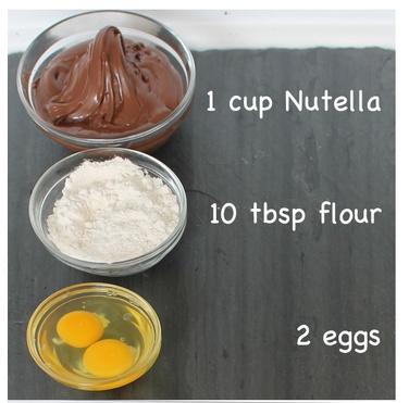 wholekitchen: Receta fácil y rápida de brownie de nutella