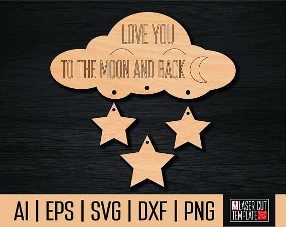 Sign love you to the moon and back in the form of