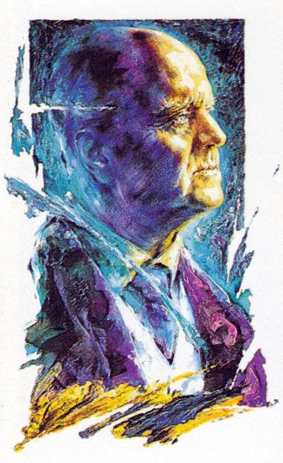 Jean Sibelius - portrait by Ralf Krieger