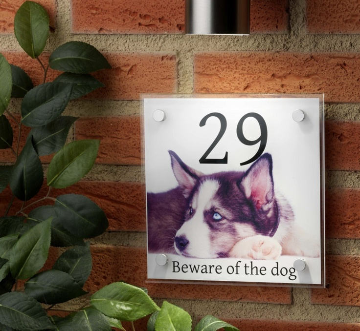 Dog house signs   posh house signs with your 'pet' beware of the dog!!!