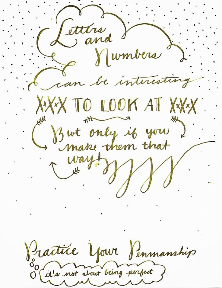 how to work on penmanship