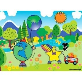"""PlanetPals Green and Clean Day At the Park Jigsaw Puzzle 24 pieces      Product Features  Finished Size: 15"""" X 11""""  Pieces: 24  Manufacturer: Ceaco  Recommended Age: 3+  Artist: Judith Gorgone"""