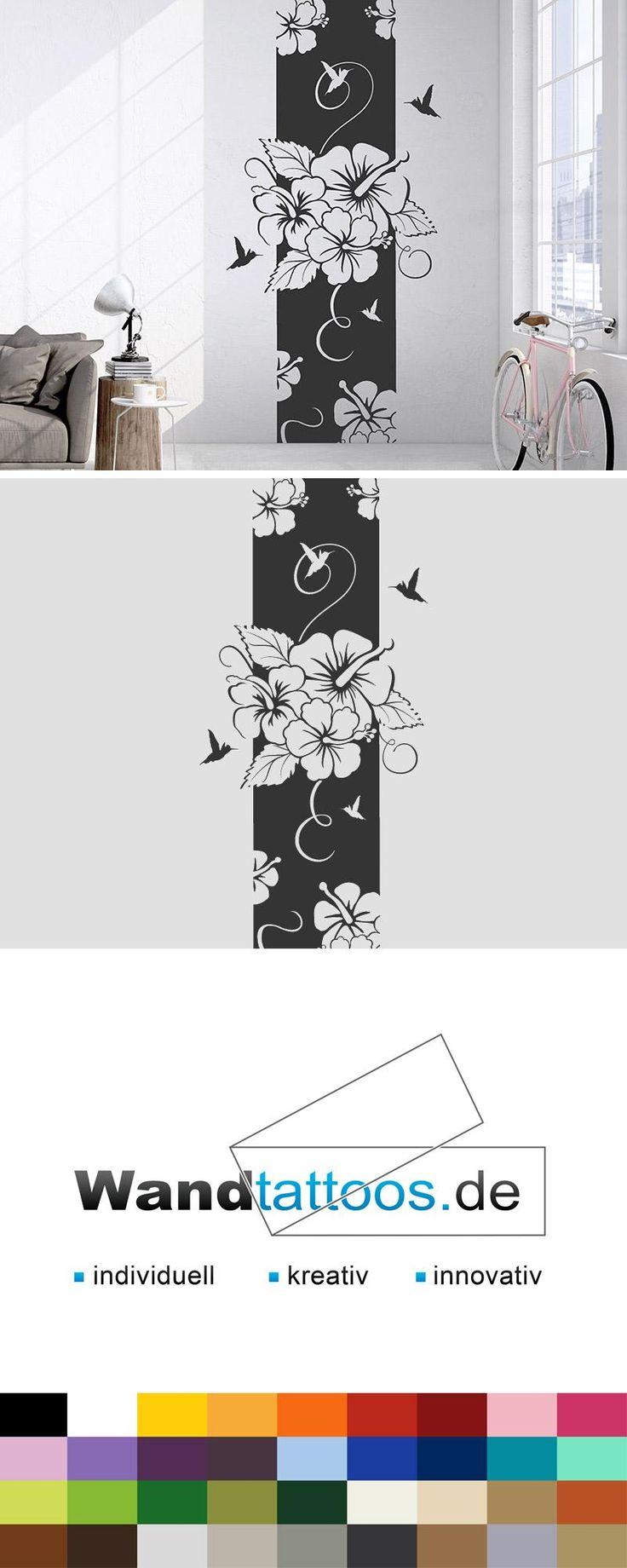 Wandbanner Hibiscus Blüte als Idee zur individuellen Wandgestaltung. Einfach Lieblingsfarbe und Größe auswählen. Weitere kreative Anregungen von Wandtattoos.de hier entdecken!