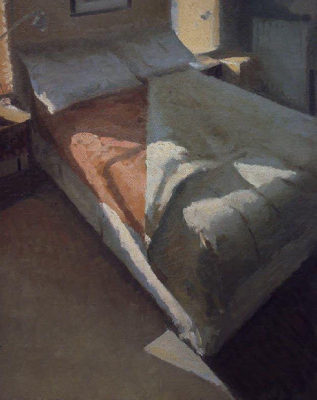 Peter Van Dyck - bed, morning http://www.petervandyckart.com/bed,%20morning.html