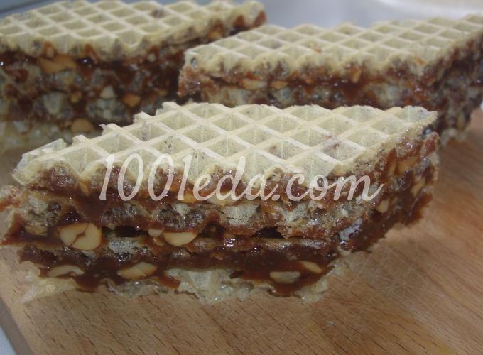 Вафельный торт Грильяж: рецепт с пошаговым фото