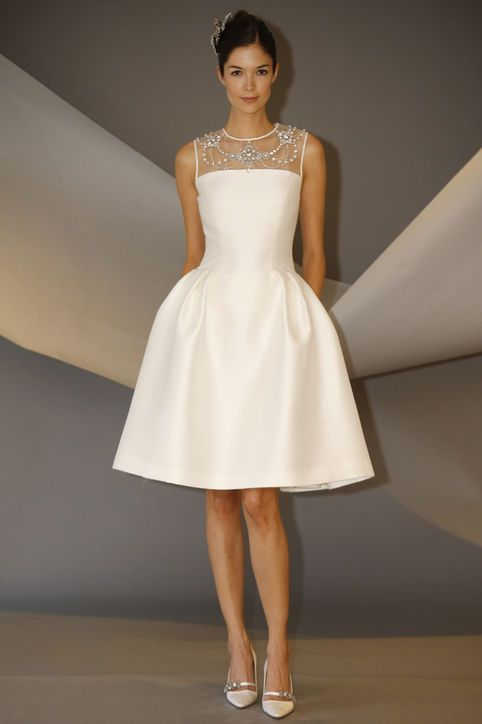 10 Short Wedding Dresses From Carolina Herrera S Latest Collection Fashion Pinterest And