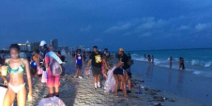 Black Fraternity Helps To Clean Up Mess After Spring Break Party On South Beach