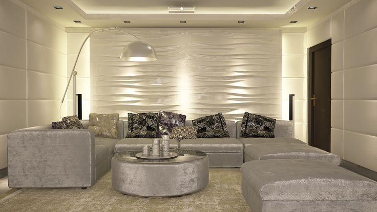 Домашний кинотеатр /3D визуализация, дизайн.