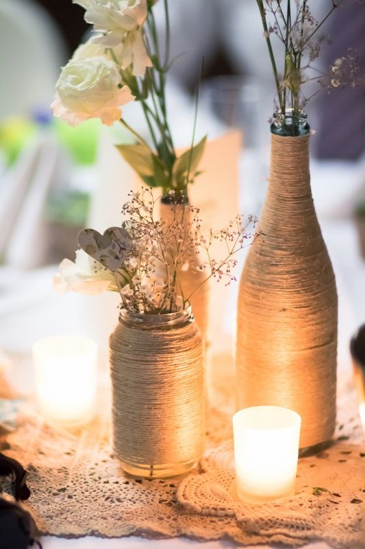 Lauren's handmade vases at Chateau Dore Winery