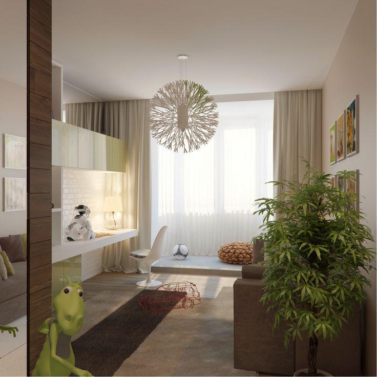 рабочее место, зеркало под потолком http://www.fedorova.ru/p/intereryi/interer-kvartiryi-170m-v-zhk-dominanta.html