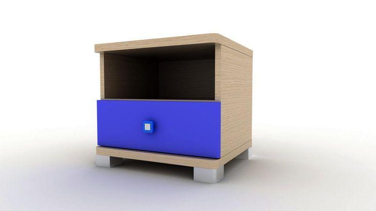 Kομοδίνο με 1 συρτάρι με επιλογή χρωμάτων για να το ταιριάξετε απόλυτα στον χώρο σας! Ποιοτική κατασκευή με υλικά Ελληνικής κατασκευής για αντοχή στον χρόνο και άψογο φινίρισμα.