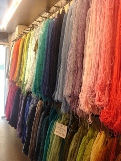 La Droguerie sure knows how to display yarn.