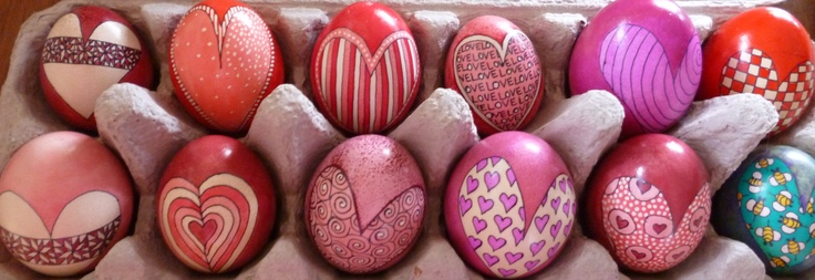 """My recent Valentine's Day """"Not Just for Easter Eggs"""" in the Valley's Incube8r's window...Jodi Henninger"""