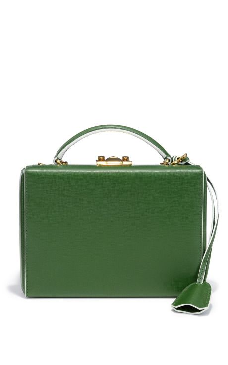 Grace Small Box Clutch In Forest by Mark Cross for Preorder on Moda Operandi