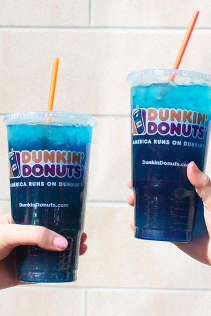 Dunkin donutss blue raspberry drink has the caffeine