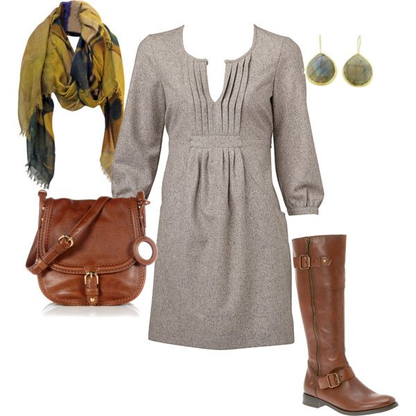 : Gray Dress, Style, Dresses Boots, Sweaters Dresses, Cute Dresses, Fall Outfits, The Dresses, Winter Dresses, Fall Dresses