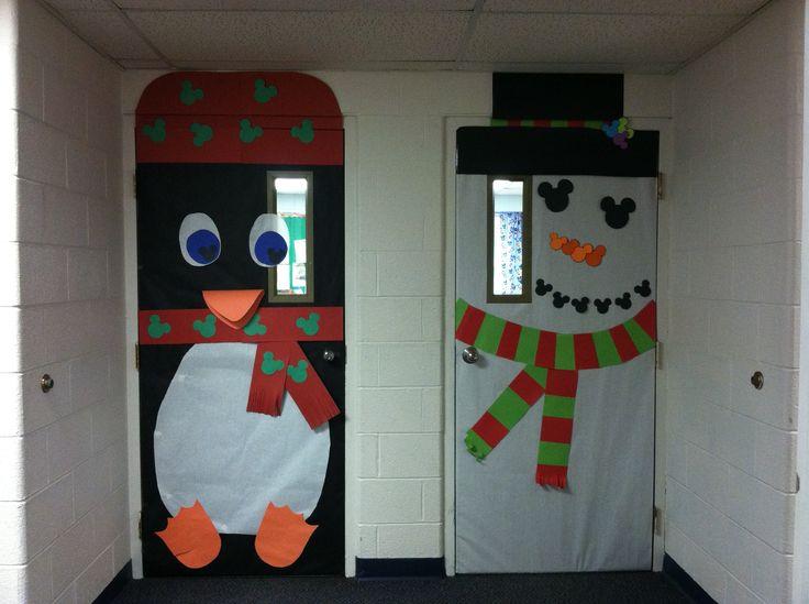 89 best christmas classroom door decoration images on for M m door decorations