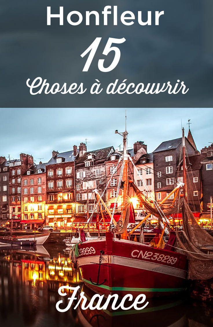 visiter Honfleur, en Normandie, une très belle ville de france. Le guide ultime pour découvrir les attraits de la ville, comme le Vieux Bassin ou les maisons Satie!