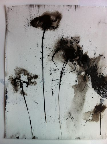 neutralnotes:    Heaven, Earth and Sea (series) (by Amie Oliver)  Ink on synthetic paper.