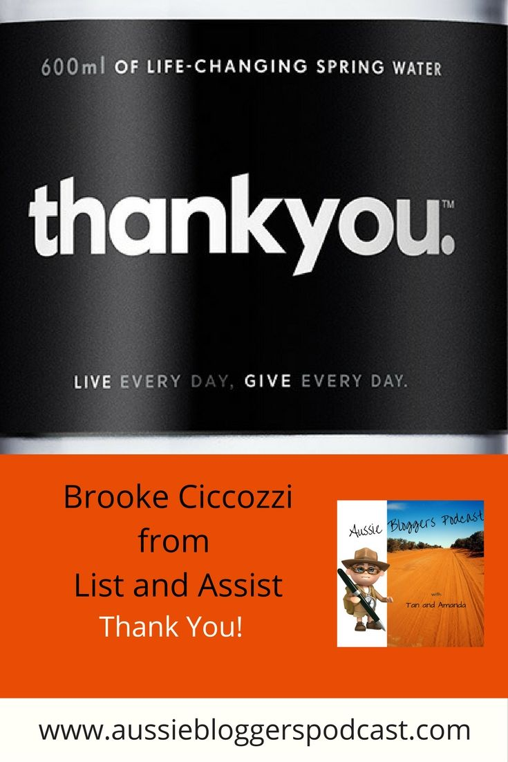 Brooke introduces us to the inspirational story of THANK YOU and what makes this project by Daniel Flynn so very special http://www.listandassist.com.au/thankyou/