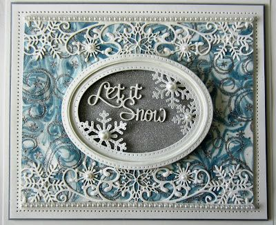 Use the memory box dies for top and bottom border. PartiCraft (Participate In Craft): Christmas Double Days