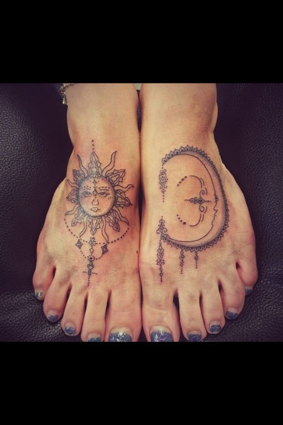 27 best sun and moon tattoo on foot images on pinterest tattoo feet tattoo ideas and awesome. Black Bedroom Furniture Sets. Home Design Ideas