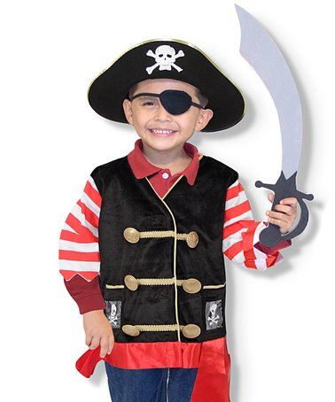 Love this Melissa & Doug Pirate Dress-Up Set on #zulily! #zulilyfinds