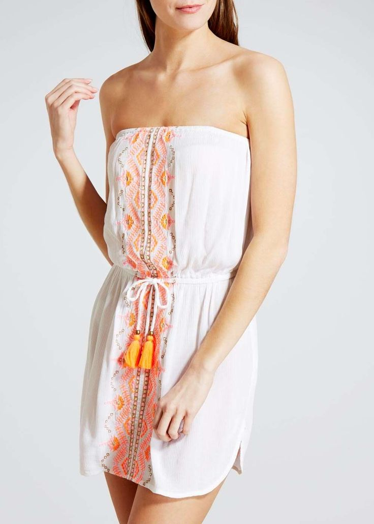 Embroidered Bandeau Dress View 1