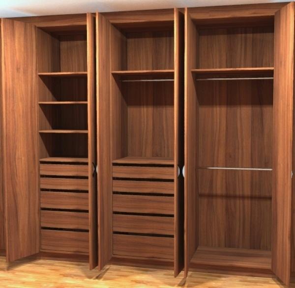 322a walnut veneer built in bespoke wardrobe with drawers london wimbledon