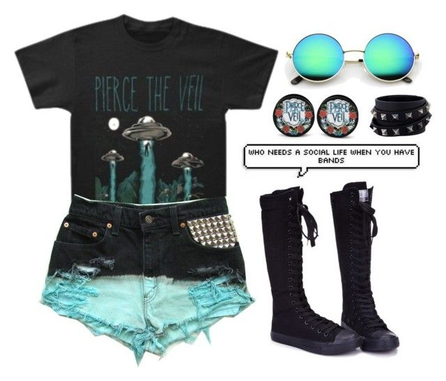 """Pierce The Veil"" by cherry-demon on Polyvore featuring Valentino"