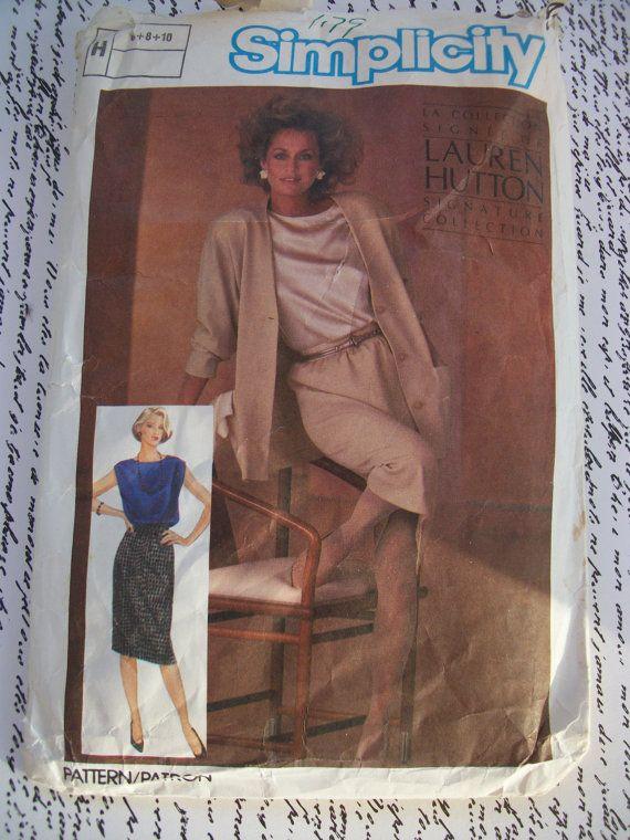 Vintage 1984 Simplicity Lauren Hutton Misses by GadzooksGladys