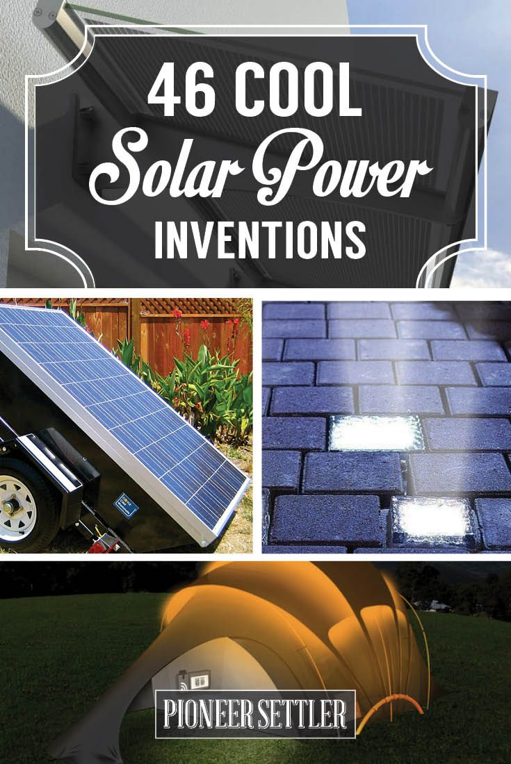 Cool Solar Powered Inventions | Awesome DIY Projects by Pioneer Settler http://pioneersettler.com/solar-powered-inventions/