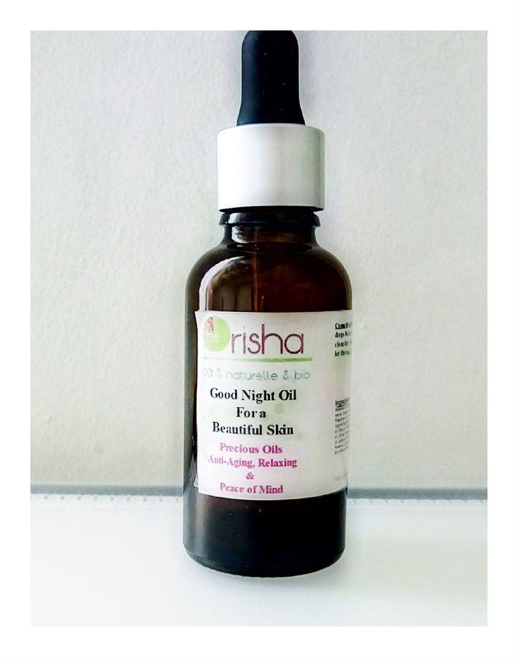 """Orisha """"Good Night for Beautifull Skin"""" huile de nuit précieuse / Soin anti-rides, restructurant et apaisant 100% biologique . de la boutique Orishacosmetic sur Etsy"""