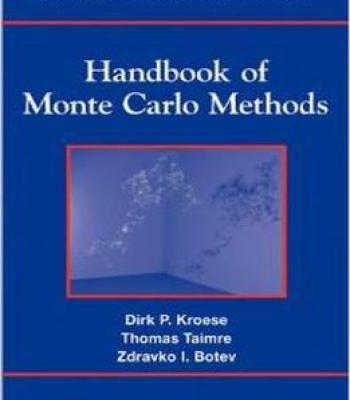 Handbook Of Monte Carlo Methods By Thomas Taimre PDF