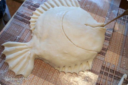 Поделка изделие Лепка рыбка Ажурная МК Тесто соленое фото 10