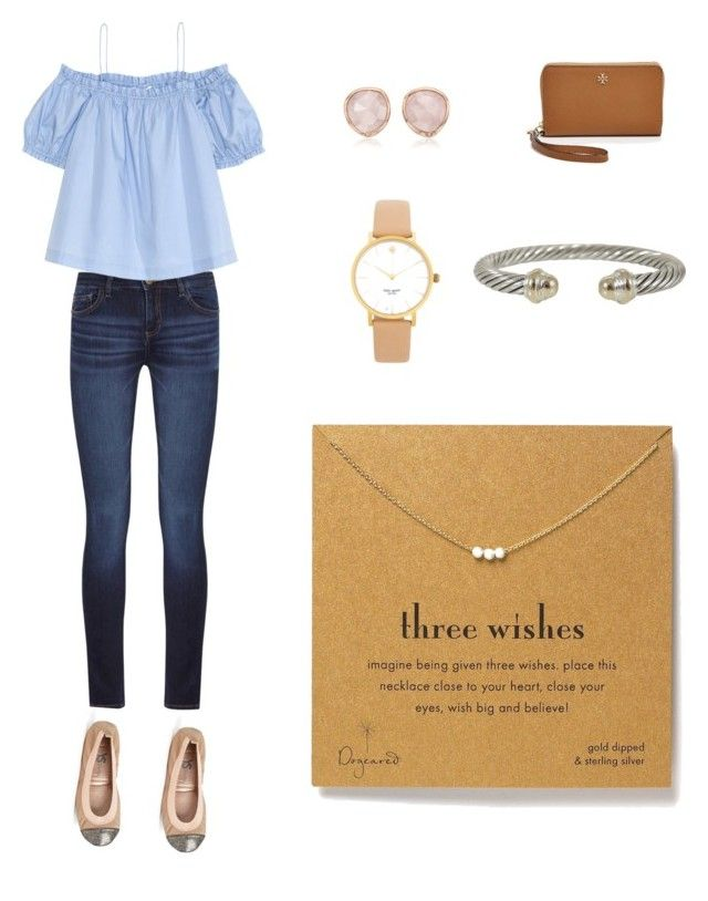 post football game attire by kbf26 on Polyvore featuring polyvore, fashion, style, H&M, DL1961 Premium Denim, Yosi Samra, Tory Burch, Dogeared, David Yurman, Kate Spade, Monica Vinader and clothing