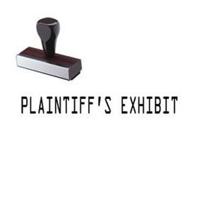 Plaintiffs Exhibit Rubber Stamp - Find the Plaintiff's Exhibit Rubber Stamp online at Acorn Sales. This legal stamp is mounted on a wooden handle and perfect for your law firm.