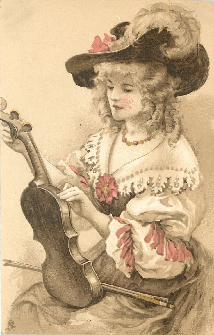 Старые музыкальной открытки