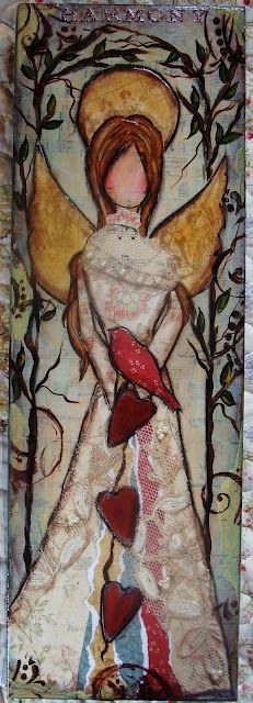 folk art angel-diane salter